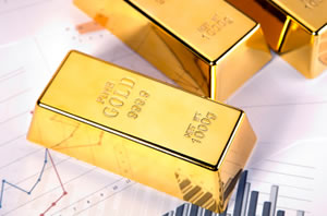 Gold bullion and charts