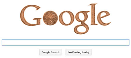 Google Doodle of Last Canadian Penny