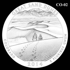 Great Sand Dunes National Park -Quarter and Coin Design Candidate C0-02