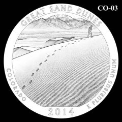 Great Sand Dunes National Park - Quarter and Coin Design Candidate C0-03