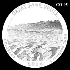 Great Sand Dunes National Park - Quarter and Coin Design Candidate C0-05