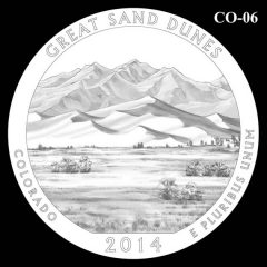 Great Sand Dunes National Park - Quarter and Coin Design Candidate C0-06