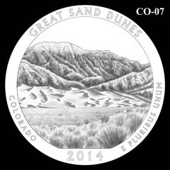 Great Sand Dunes National Park - Quarter and Coin Design Candidate C0-07