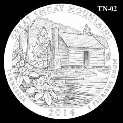 Great Smoky Mountains National Park - Quarter and Coin Design Candidate TN-02