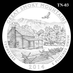 Great Smoky Mountains National Park - Quarter and Coin Design Candidate TN-03