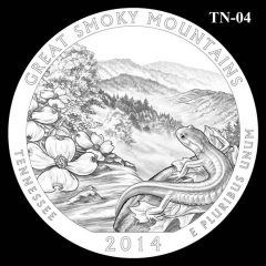 Great Smoky Mountains National Park - Quarter and Coin Design Candidate TN-04