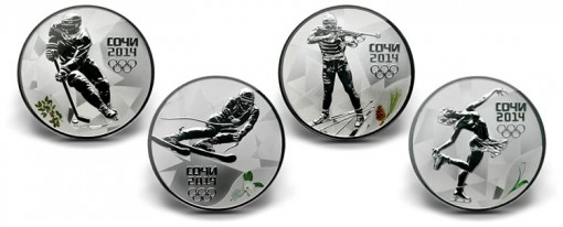 Russian Sochi 2014 Winter Olympics Commemorative Coins