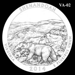 Shenandoah National Park - Quarter and Coin Design Candidate VA-02