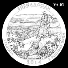 Shenandoah National Park - Quarter and Coin Design Candidate VA-03