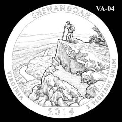 Shenandoah National Park - Quarter and Coin Design Candidate VA-04