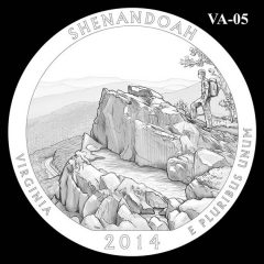 Shenandoah National Park - Quarter and Coin Design Candidate VA-05