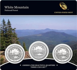 White Mountain National Forest Quarters Three-Coin Set