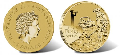 2013 ANZAC Australian Defence Force Engineers $1 Coin
