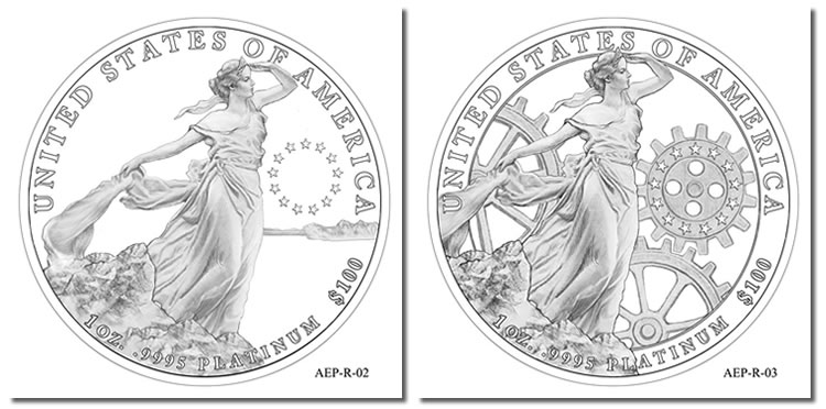 2013 American Platinum Eagle Design Candidates Coin News