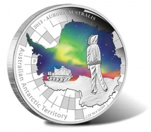 2013 Australian Antarctic Aurora Australis Silver Proof Coin