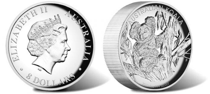 2013 Australian Koala 5 oz. High Relief Silver Proof Coin