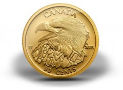 2013 Bald Eagle 1/25 Oz Gold Coin 12th in Canadian Series