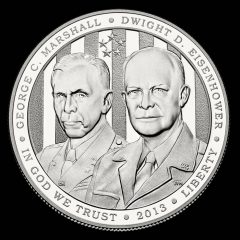 2013-P Proof 5-Star Generals Silver Dollar Obverse
