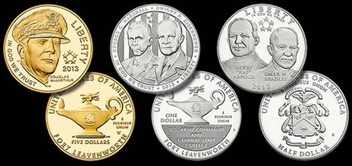 2013 Proof 5-Star Generals Commemorative Coins