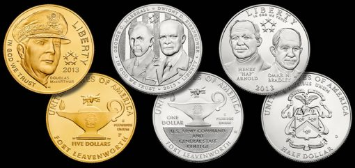 2013 Uncirculated 5-Star Generals Commemorative Coins