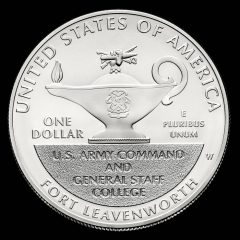 2013-W Uncirculated 5-Star Generals Silver Dollar Reverse