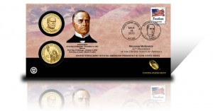 2013 William McKinley Presidential $1 Coin Cover