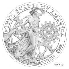 (AEP-03) 2013 American Platinum Eagle Design Candidate