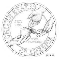 (AEP-08) 2013 American Platinum Eagle Design Candidate