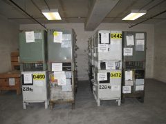 Bins of Stored Coin Blanks