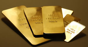 Different Sized Gold Bars
