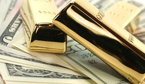Gold Bars and US Money