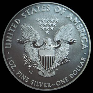 Reverse Image of 2013-W Enhanced American Eagle Silver Uncirculated Coin