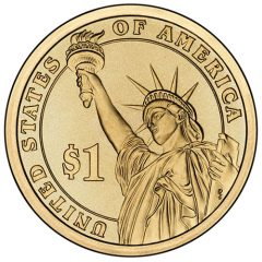 Reverse of Presidential $1 Uncirculated Coin