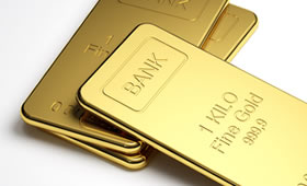 Three Gold Bullion Bars