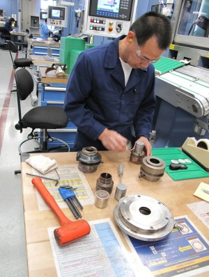 David Atienza assembling die tooling