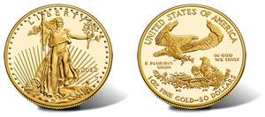 2013 $50 Proof American Gold Eagle