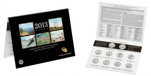 2013 America the Beautiful Quarters Uncirculated Set