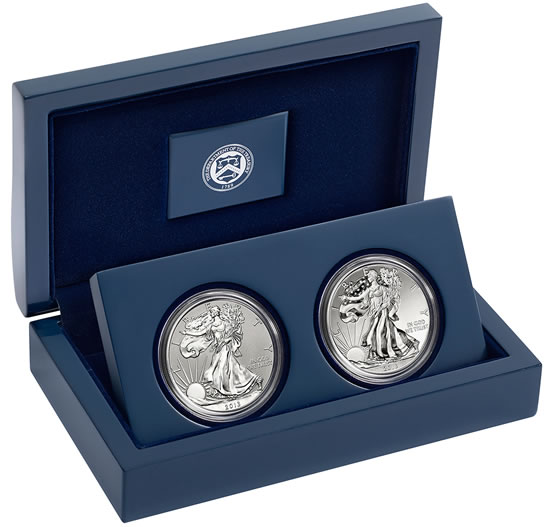 2017 American Eagle West Point Two Coin Silver Set