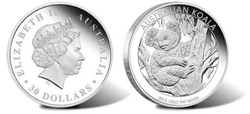 2013 Australian Koala 1 Kilo Silver Proof Coin