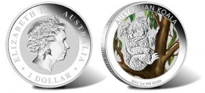 2013 Australian Koala Silver Coins in Color and Kilo Size