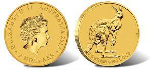 Australian Mini Roo 0.5g Gold Coin for 2013