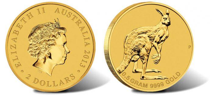 2013 Australian Mini Roo 0.5g Gold Coin
