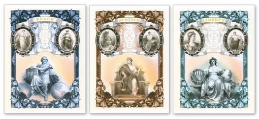2013 Ideals in Allegory Intaglio Prints - Peace, Justice, and Liberty