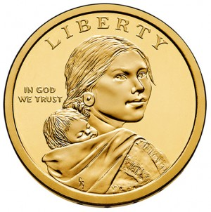 2013 Native American $1 Coin - Obverse