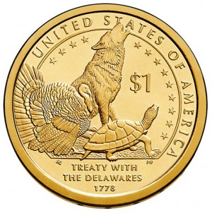2013 Native American $1 Coin - Reverse
