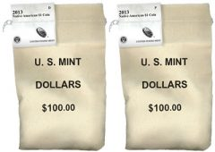 2013 Native American Dollar Coins in Bags
