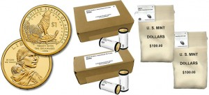 2013 Native American $1 Dollar Coins in Rolls, Boxes and Bags