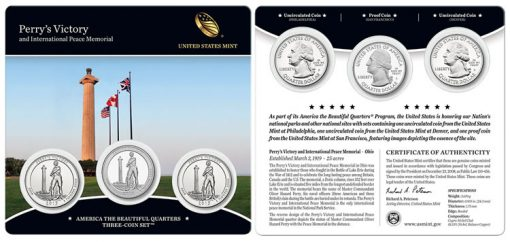2013 Perry's Victory and International Peace Memorial Quarters Three-Coin Set