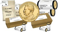2013 Theodore Roosevelt Presidential $1 Coins Rolls, Bags, Boxes