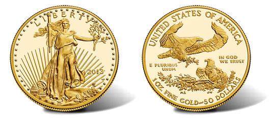 2013-W $50 Proof American Gold Eagle Coin